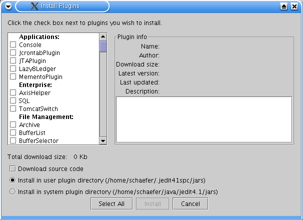 jEdit Plugin Manager